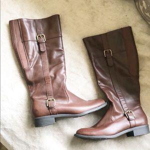 Bass Josie Tall Brown Boots Size 9M